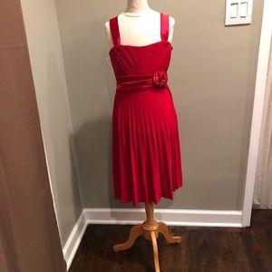 Junior red dress